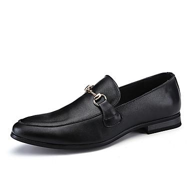 Męskie Komfortowe buty PU Wiosna / Jesień Mokasyny i buty wsuwane Czarny
