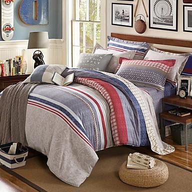 ensembles housse de couette formes g om triques 3 pi ces. Black Bedroom Furniture Sets. Home Design Ideas