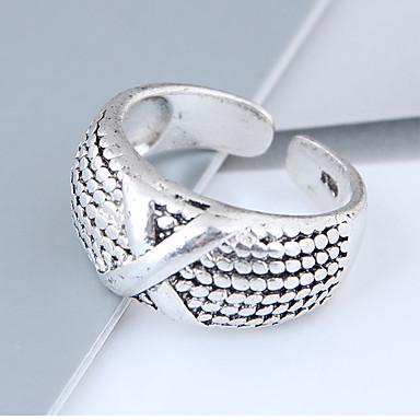 Χαμηλού Κόστους Μοδάτο Δαχτυλίδι-Γυναικεία X δακτύλιο Band Ring Κράμα κυρίες Βίντατζ Ευρωπαϊκό Μοντέρνα Μοδάτο Δαχτυλίδι Κοσμήματα Ασημί Για Καθημερινά Ρυθμιζόμενο