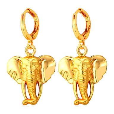 בגדי ריקוד נשים עגילים צמודים - ציפוי זהב נשים פשוט גדול תכשיטים זהב עבור מסיבת ערב פגישה (דייט)