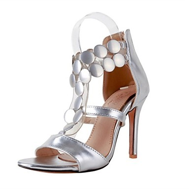 2b32eb8a2936 Women s Shoes PU(Polyurethane) Summer Gladiator Sandals Stiletto Heel Open  Toe Sequin Gold   Silver   Red   Party   Evening