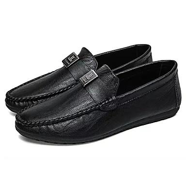 Men's Moccasin PU(Polyurethane) Spring Slip-Ons / Fall Loafers & Slip-Ons Spring Black / Gray / Camel f2f54b
