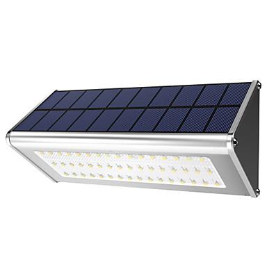 1 szt. 10 W Światło ścienne Wodoodporny / Na energię słoneczną / Dekoracyjna Biały 3.7 V Oświetlenie zwenętrzne 48 Koraliki LED