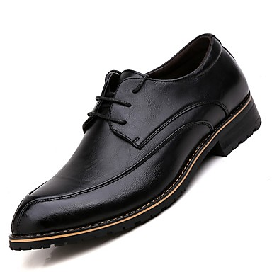 Men's Formal Shoes Patent Leather Oxfords Spring / Fall Comfort Oxfords Leather Black / Brown / Burgundy 785696