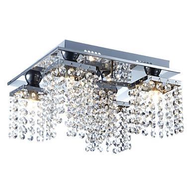 Lightinthebox 5-Light Kristal Flush Mount Ambient Light - Crystal, 110-120V / 220-240V Bulb Included / G9 / 20-30㎡