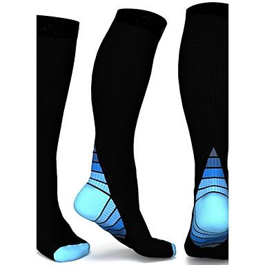 כל גרבי דחיסה נושם, תומך זיעה, נוח עבור 2 זוגות קולור בלוק כל העונות / גמישות גבוהה