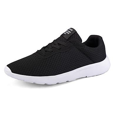 בגדי ריקוד גברים נעלי נוחות רשת אביב קיץ / סתיו חורף ספורטיבי / יום יומי נעלי אתלטיקה ריצה / הליכה נושם שחור / אפור / כחול
