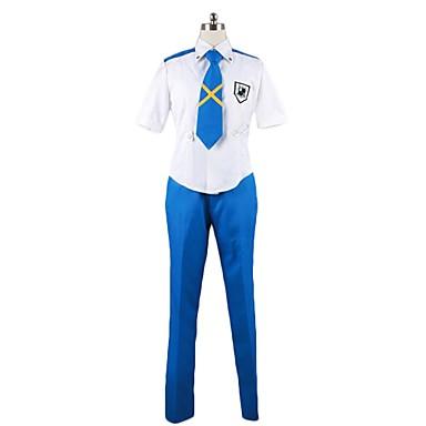 Zainspirowany przez Macross Frontier Cosplay Anime Kostiumy cosplay Garnitury cosplay Inne Krótki rękaw Koszula / Spodnie / Krawat Na Męskie / Damskie Kostiumy na Halloween