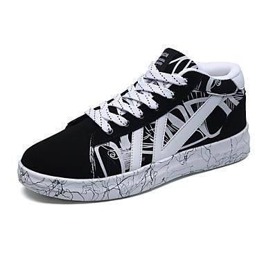 Men's Fabric Fall / Winter Comfort Sneakers Black / Black / White / Black / Red