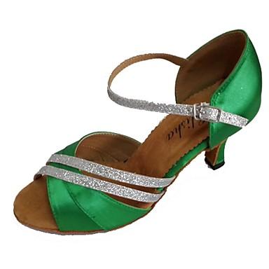 Dame Latin Satin Hæle Personligt tilpassede hæle Flerfarvet Kan tilpasses
