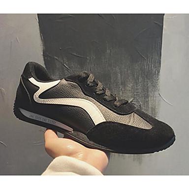 Muškarci PU Proljeće / Jesen Udobne cipele Sneakers Crno-bijeli / Crna / žuta