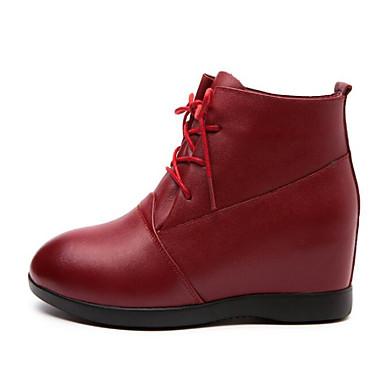 Mujer Zapatos PVC Primavera verano Botas de lluvia Botas Tacón Bajo Botines / Hasta el Tobillo Rojo / Almendra UlrAu5
