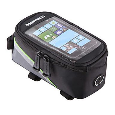 ROSWHEEL Fahrradrahmentasche Handy-Tasche 4.2/5.5/6.2 Zoll Wasserdicht tragbar Telefon/Iphone Touchscreen Reflexstreiffen Skifest Radsport