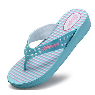 EVA Confort Mujer Claro flip Cuña Zapatos flops Rosa Azul Tacón 06601940 y Zapatillas Verano Melocotón qpwU5