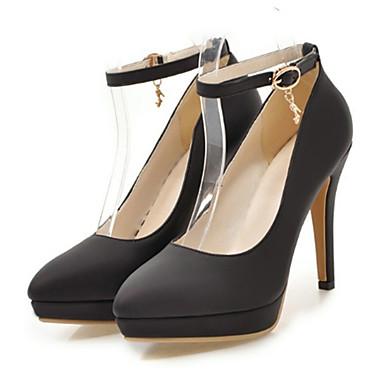 Mujer Zapatos Semicuero Primavera / Verano Confort / Innovador / Botas de Moda Sandalias Tacón Plano Rosa / Almendra / Boda Zc8Y2t0