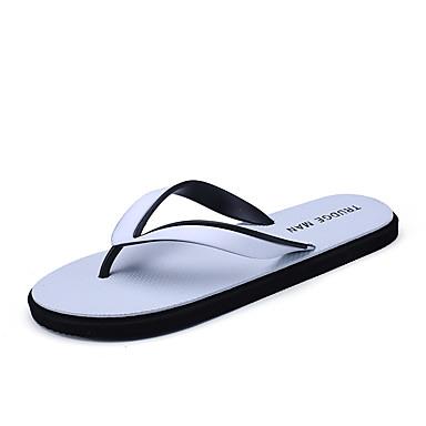Unisex Schuhe Leinwand Sommer Komfort Slippers & Flip-Flops Geflochtene Riemchen für Normal Weiß Schwarz Rot Grün