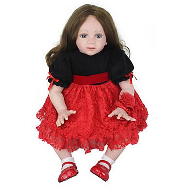 2019 Ultimo Disegno Npk Doll Bambole Reborn Bambine 24 Pollice Silicone Vinile - Neonato Realistico Carino Fatto A Mano Nuovo Design Ciglia Applicate A Mano Per Bambino Unisex Giocattoli Regalo - Testa Floscia #06569203