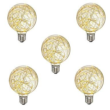 abordables Ampoules électriques-5pcs e27 g95 star lumière 3w led ampoules à filament noël de la chaîne lumières lumières de vacances décoratives pour pierre et hôtel ac85-265v
