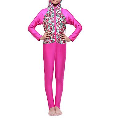 Χαμηλού Κόστους Ρούχα για Κορίτσια-Παιδιά Κοριτσίστικα Μπόχο Αθλητικά Φλοράλ Συνδυασμός Χρωμάτων Κλασσικό στυλ Πολυεστέρας Νάιλον Spandex Μαγιό Φούξια