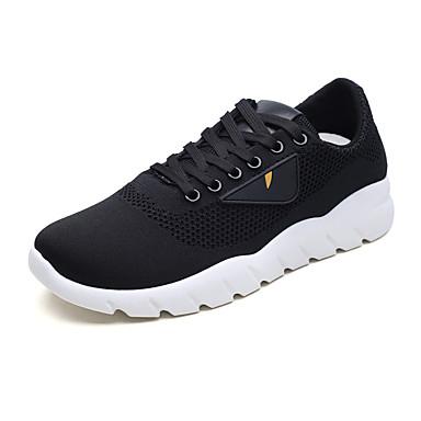 בגדי ריקוד גברים דמוי עור / טול סתיו / חורף נוחות נעלי ספורט הליכה לבן / שחור / אדום