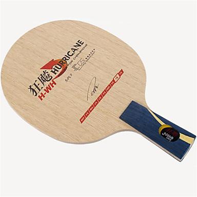 DHS® Hurricane H-WH CS Ping Pang/מחבטי טניס שולחן לביש עמיד עץ סיבי פחמן EGS 5-PLY 1