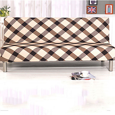 cheap Slipcovers-Contemporary 100% Polyester Jacquard Loveseat Cover, Simple Striped Pigment Print Slipcovers