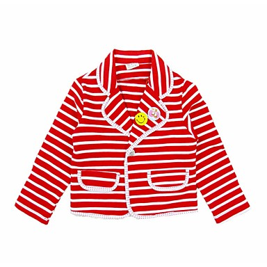 5b79d7df Toddler Girls' Active Daily Holiday Striped Long Sleeve Regular Cotton  Polyester Suit & Blazer White