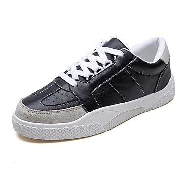 בגדי ריקוד גברים אור סוליות PU אביב / סתיו נעלי ספורט לבן / שחור
