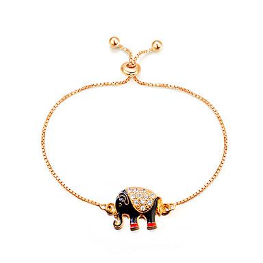 baratos Pulseira de Corrente-Mulheres Pulseiras em Correntes e Ligações Elefante Animal senhoras Vintage Fashion Liga Pulseira de jóias Dourado Para Presente Festa de Noite Baile de Formatura Para Noite