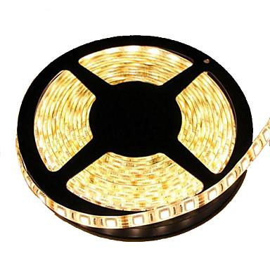 Flexibele LED-verlichtingsstrips 300 LEDs Warm wit Knipbaar Waterbestendig Zelfklevend Koppelbaar DC 12V