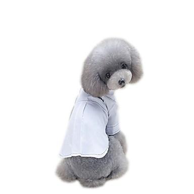 Psy Suknie Ubrania dla psów Jendolity kolor Biały / Czarny Wyściełana Fabric Kostium Dla zwierząt domowych Lato Elegancki