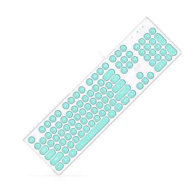 ajazz ak325 usb wired multimedia keyboard office keyboard quiet monochromatic backlit 108 pcs. Black Bedroom Furniture Sets. Home Design Ideas