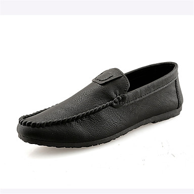 Men's Driving Shoes Faux Leather Spring / Summer Black Comfort Loafers & Slip-Ons Black Summer / Burgundy a6ae34