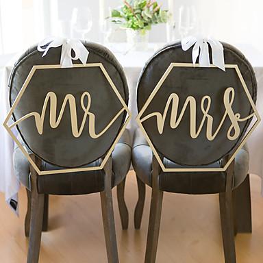 Ślub Drewniany Dekoracje ślubne Motyw Garden / Klasyczny styl Na każdy sezon