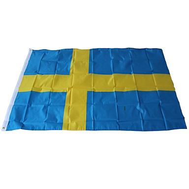 Dekoracje świąteczne Mistrzostwa Świata / Wydarzenia sportowe Flagi Szwecja 1 szt.