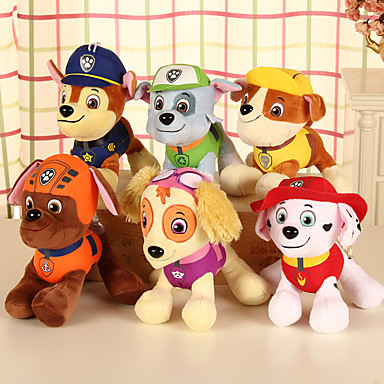 Psy Zwierzątko pluszowe Słodkie Wygodne Dla dziewczynek Zabawki Prezent 4 pcs