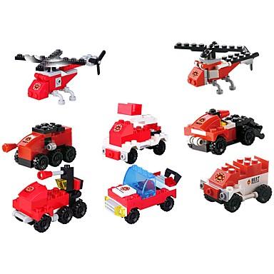 Klocki Pojazdy Zabawki dekompresyjne Interakcja rodziców i dzieci Radiowóz policyjny Wóz strażacki Helikopter Unisex Dla chłopców Dla dziewczynek Zabawki Prezent