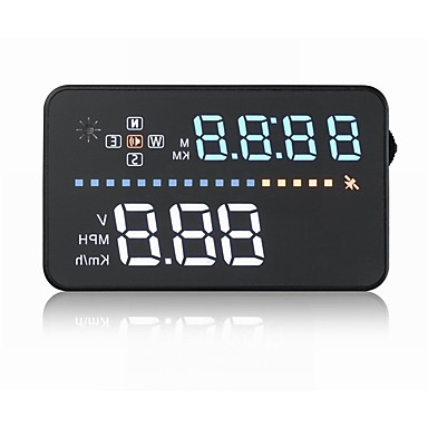 voordelige Automatisch Electronica-A3 5,6 inch  LED Bekabeld Head Up Display LED-indicator Alarm Aanpassing van de helderheid Multifunctioneel display Plug & play voor