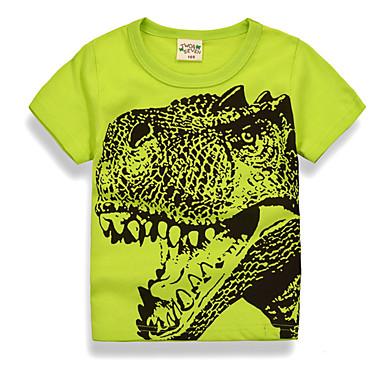 baratos Camisas para Meninos-Bébé Para Meninos Básico Diário Feriado Estampado Estampado Manga Curta Padrão Algodão Camiseta Verde