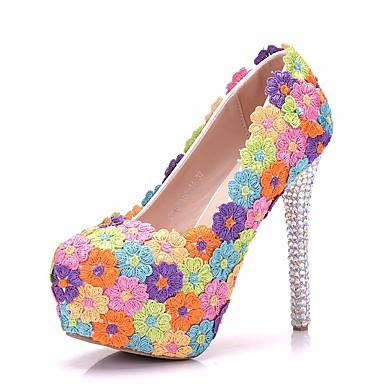 Aiguille Automne Confort pointu Bout Polyuréthane Nouveauté Fleur Talons 06649541 Chaussures Strass à Chaussures Femme en Printemps Talon CxqBntCSv