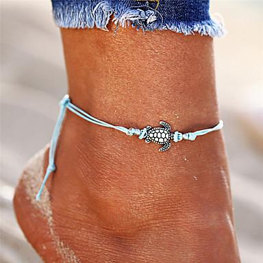 voordelige Lichaamssieraden-Heren Dames Enkelring  voeten sieraden Schildpad Dames Vintage Bohémien Modieus Boho Enkelring  Sieraden Zwart / Beige / Blauw Voor Uitgaan Bikini