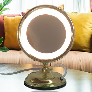 Metaliczny 3D Lampa stołowa Na Metal 220-240V Żółty