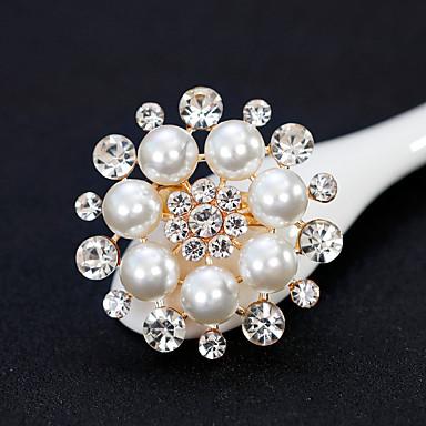 Damskie Broszki - Perłowy Kwiat Europejskie, Modny Broszka Złoty / Srebrny Na Ślub / Codzienny