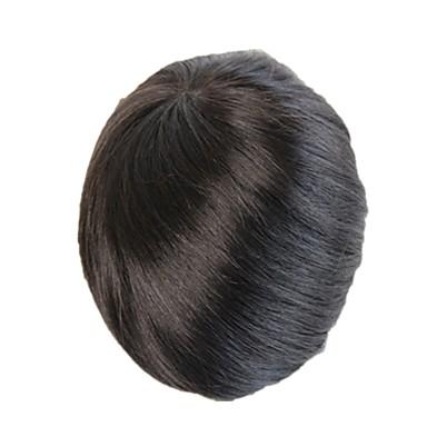 Męskie Włosy naturalne remy Tupeciki W 100% ręcznie wiązane / Pełna poronka