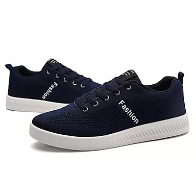Hombre Zapatos Goma Primavera / Verano Confort Zapatillas de deporte Negro / Azul Oscuro / Gris PCA5hw8