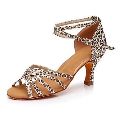 Damskie Buty do latino Materiał do wyboru Adidasy Leopard Wysoki Obcas Personlaizowane Buty do tańca Leopard / Domowy / Wydajność