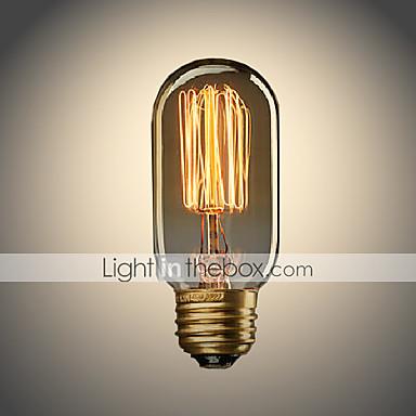 UMEI™ 1pc 40W E26/E27 T45 Varm hvit 2300 K Glødende Vintage Edison lyspære AC 110-130V AC 220-240V V
