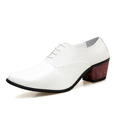 Men's Formal Shoes PU(Polyurethane) Spring / Fall Comfort Oxfords White Shoes / Black / Novelty Shoes White d6c95c
