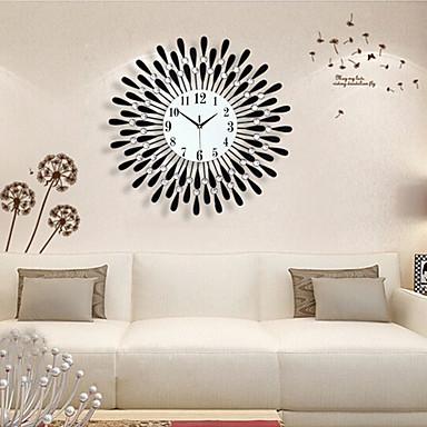 Creative Modern Black Analog Water-Drop Pattern Iron Wall Clock