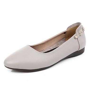 Beige Brun claire Femme Bas 06623909 Talon Automne Chaussures Printemps Confort Ballerines Cuir Noir PvxwzPOT